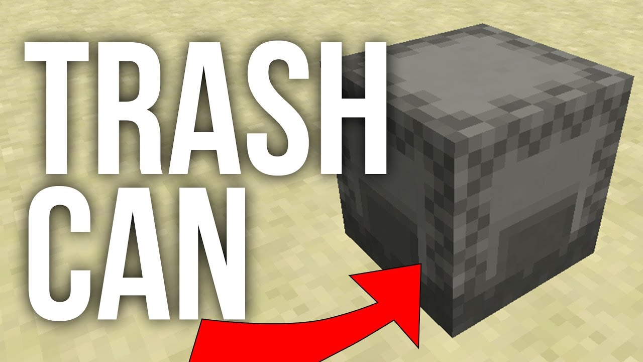 How To Build A Redstone Trash Can In Minecraft